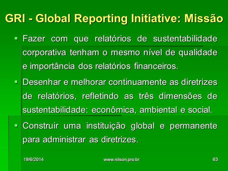  Fazer com que relatórios de sustentabilidade corporativa tenham o mesmo nível de qualidade e importância dos relatórios financeiros.  Desenhar e me