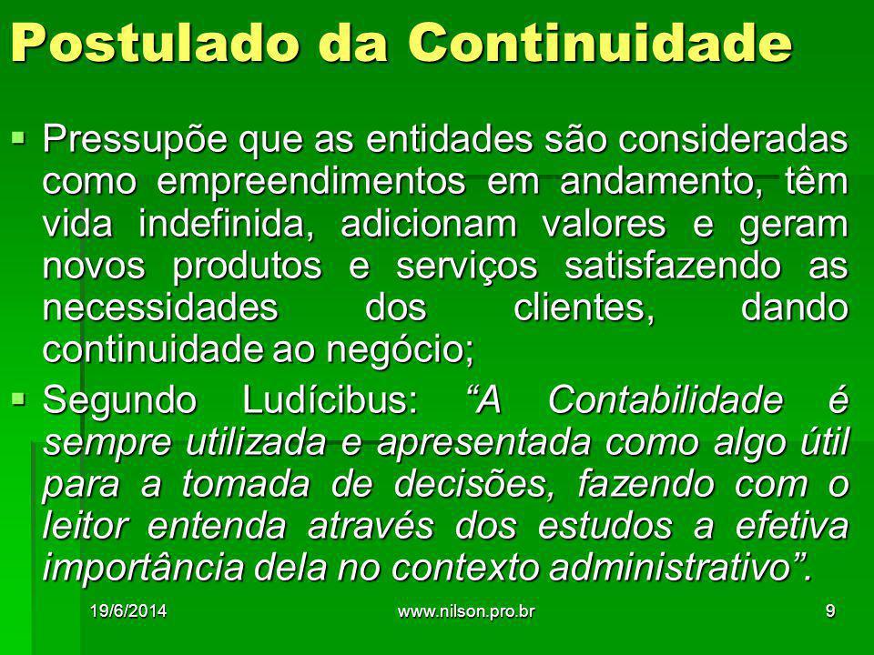 Sistemas de Gestão Ambiental - SGA 19/6/201470www.nilson.pro.br