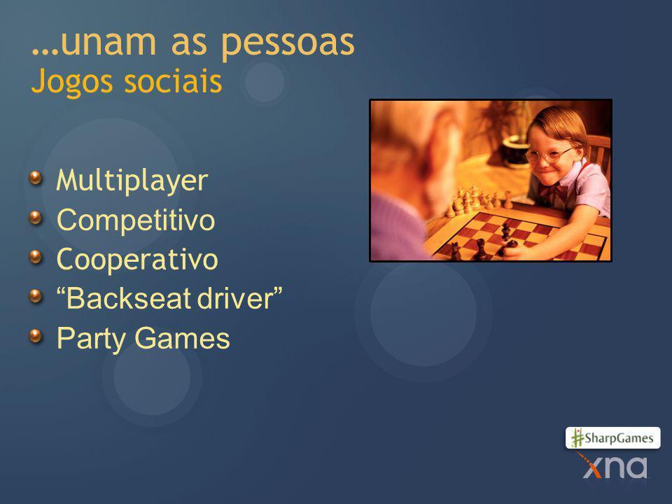…unam as pessoas Jogos sociais Multiplayer Competitivo Cooperativo Backseat driver Party Games