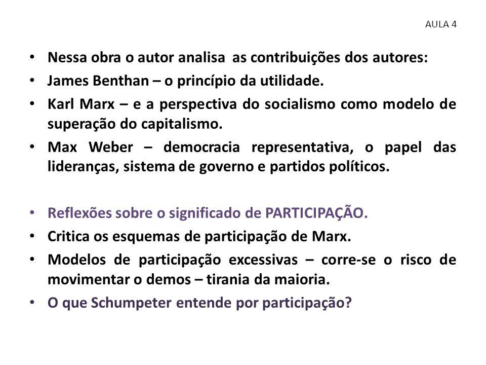 • Participação, segundo o modelo democrático de viver e fazer política.....