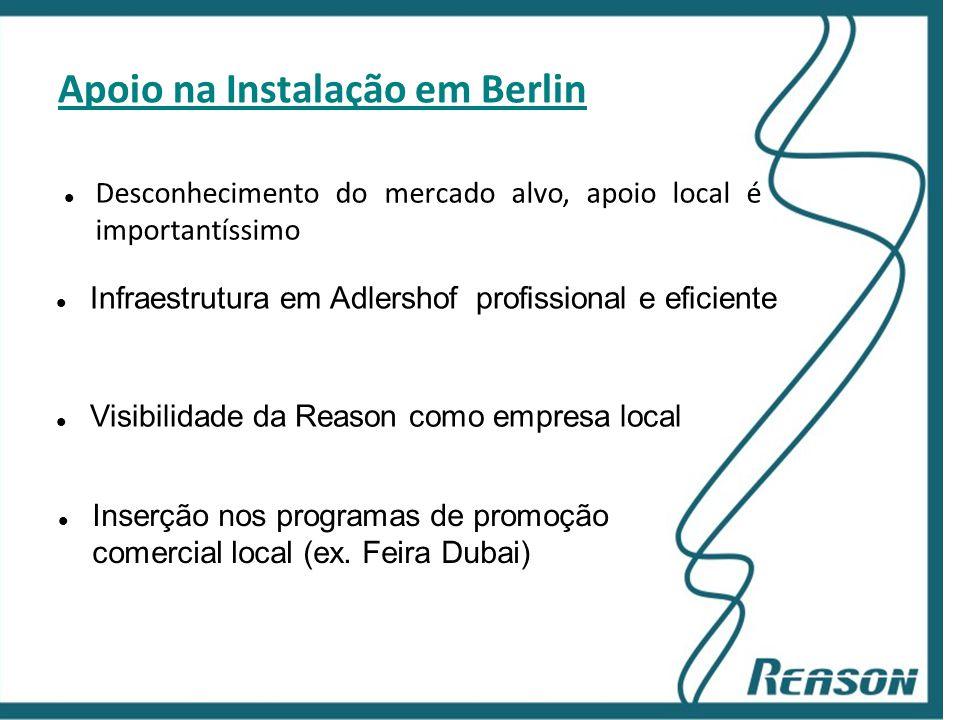 Slide 13 Apoio na Instalação em Berlin  Desconhecimento do mercado alvo, apoio local é importantíssimo  Infraestrutura em Adlershof profissional e e