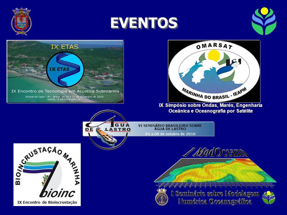 IX Simpósio sobre Ondas, Marés, Engenharia Oceânica e Oceanografia por Satélite EVENTOSEVENTOS IX Encontro de Bioincrustação