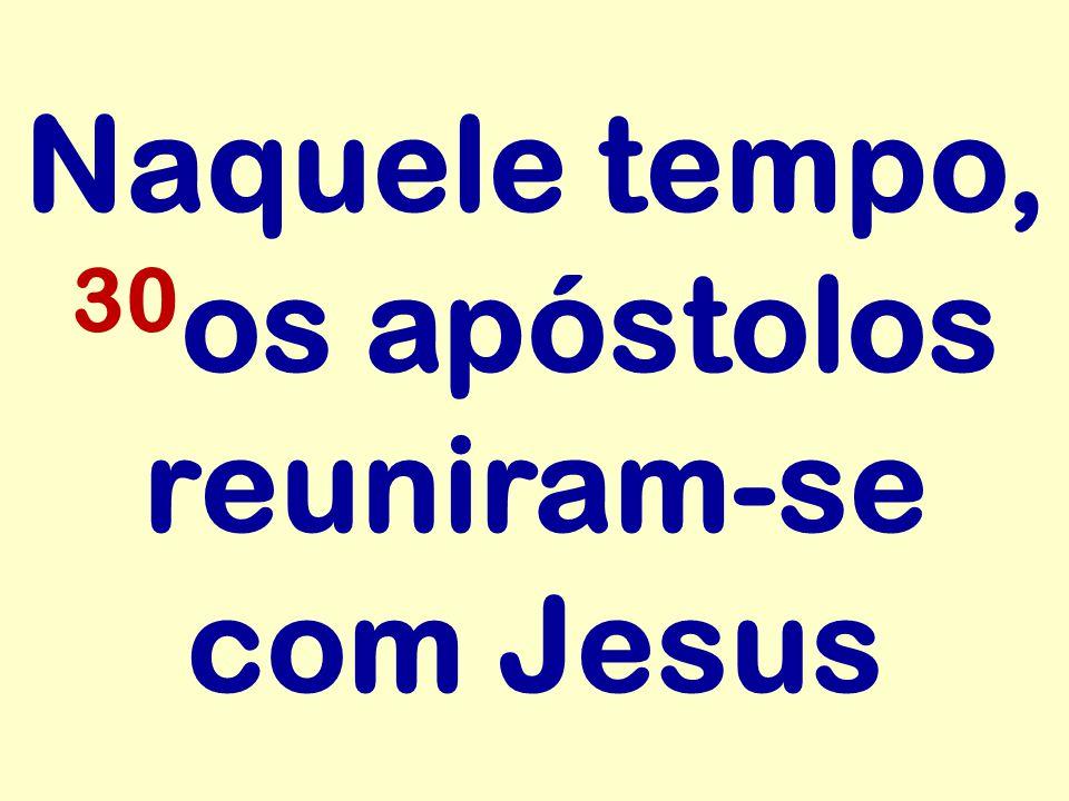 Naquele tempo, 30 os apóstolos reuniram-se com Jesus