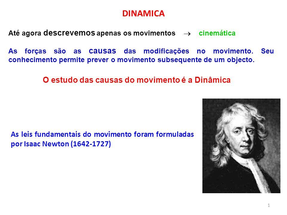Até agora descrevemos apenas os movimentos  cinemática As forças são as causas das modificações no movimento. Seu conhecimento permite prever o movim
