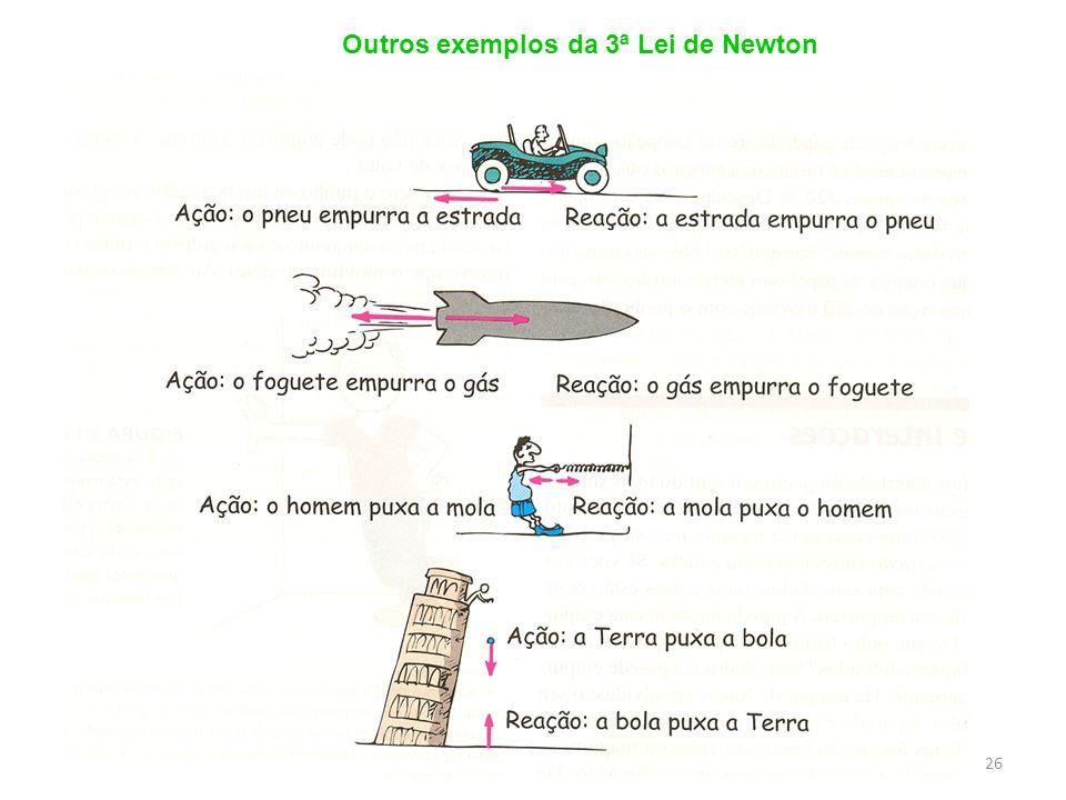Outros exemplos da 3ª Lei de Newton 26
