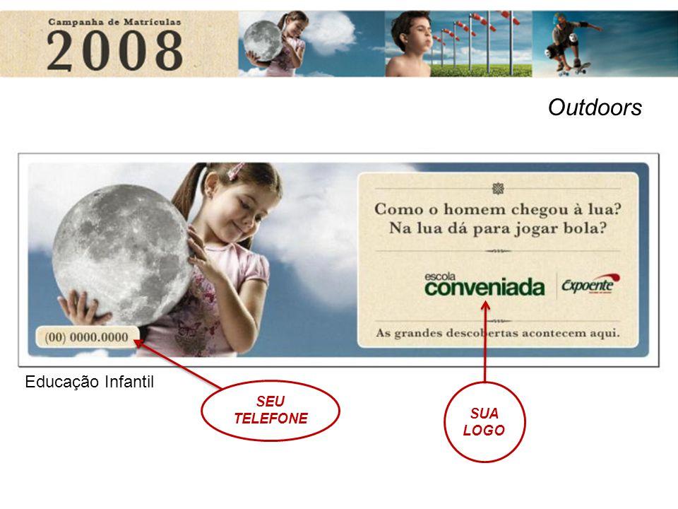 Educação Infantil Outdoors SUA LOGO SEU TELEFONE