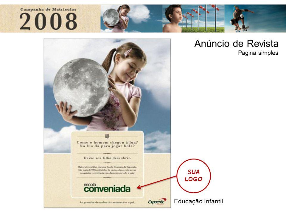 Educação Infantil Anúncio de Revista Página simples SUA LOGO
