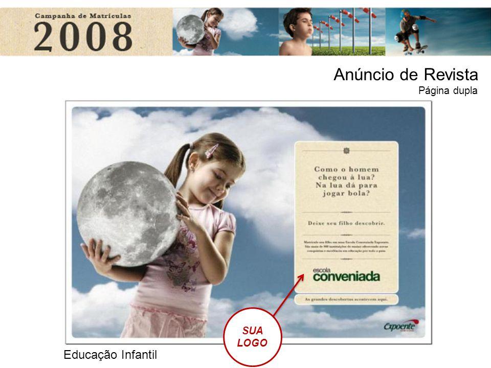 Educação Infantil SUA LOGO Anúncio de Revista Página dupla