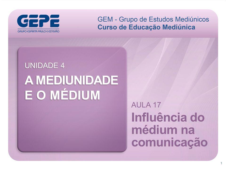 32 O guia mediúnico promove uma ligação áurica com o médium, quando solicitado pelo expositor