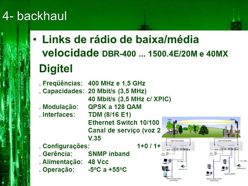 •Links de rádio de baixa/média velocidade DBR-400...