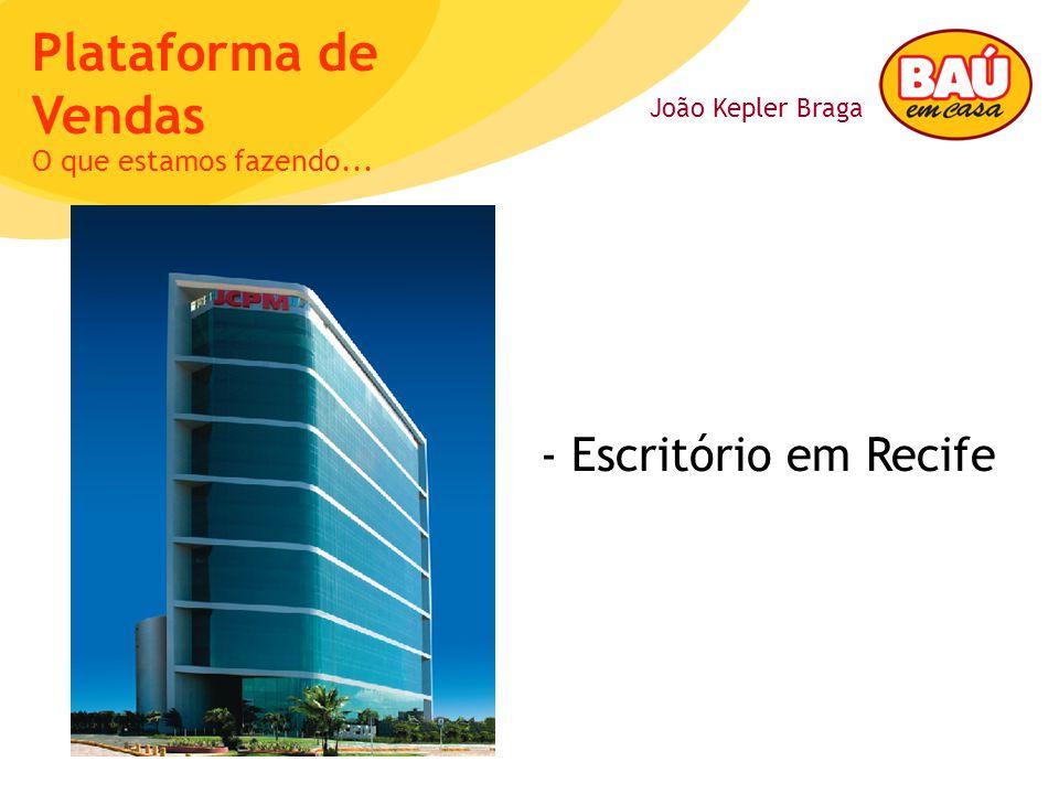João Kepler Braga Plataforma de Vendas - Escritório em Recife O que estamos fazendo...
