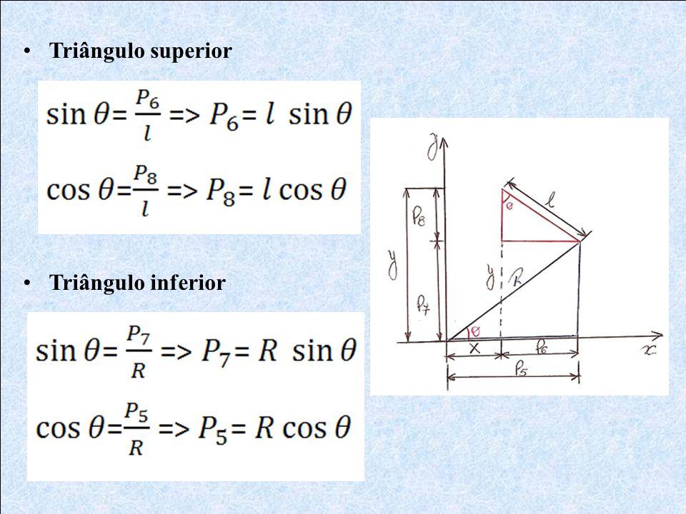 •Triângulo superior •Triângulo inferior