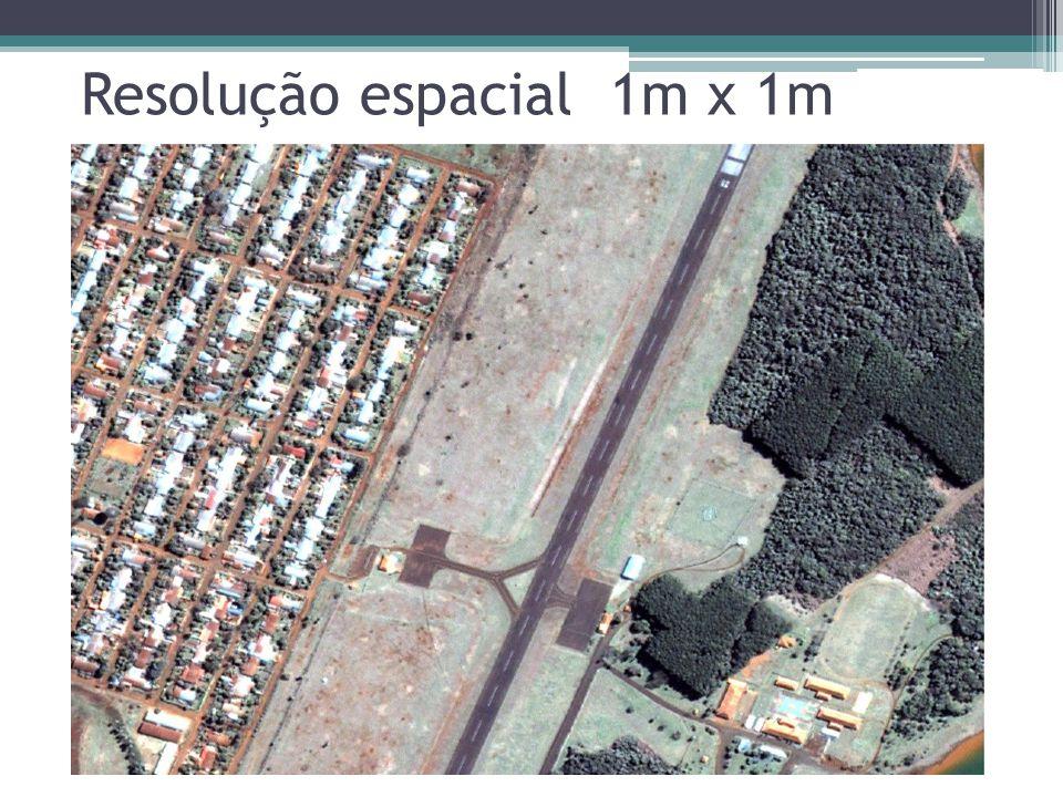 Resolução espacial 1m x 1m
