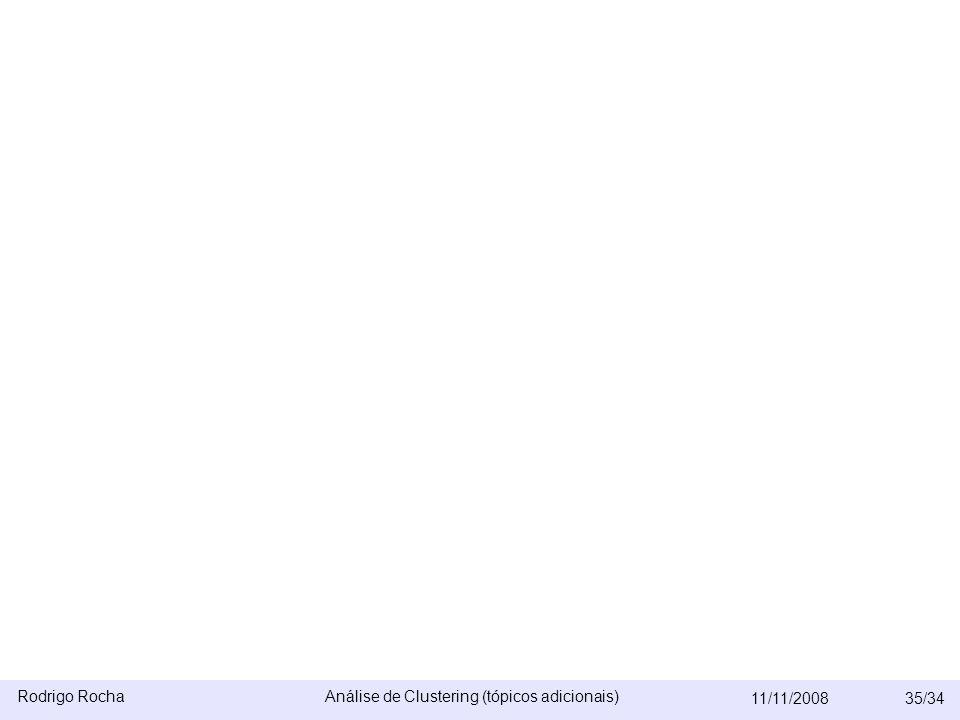 Rodrigo RochaAnálise de Clustering (tópicos adicionais) 11/11/200835/34