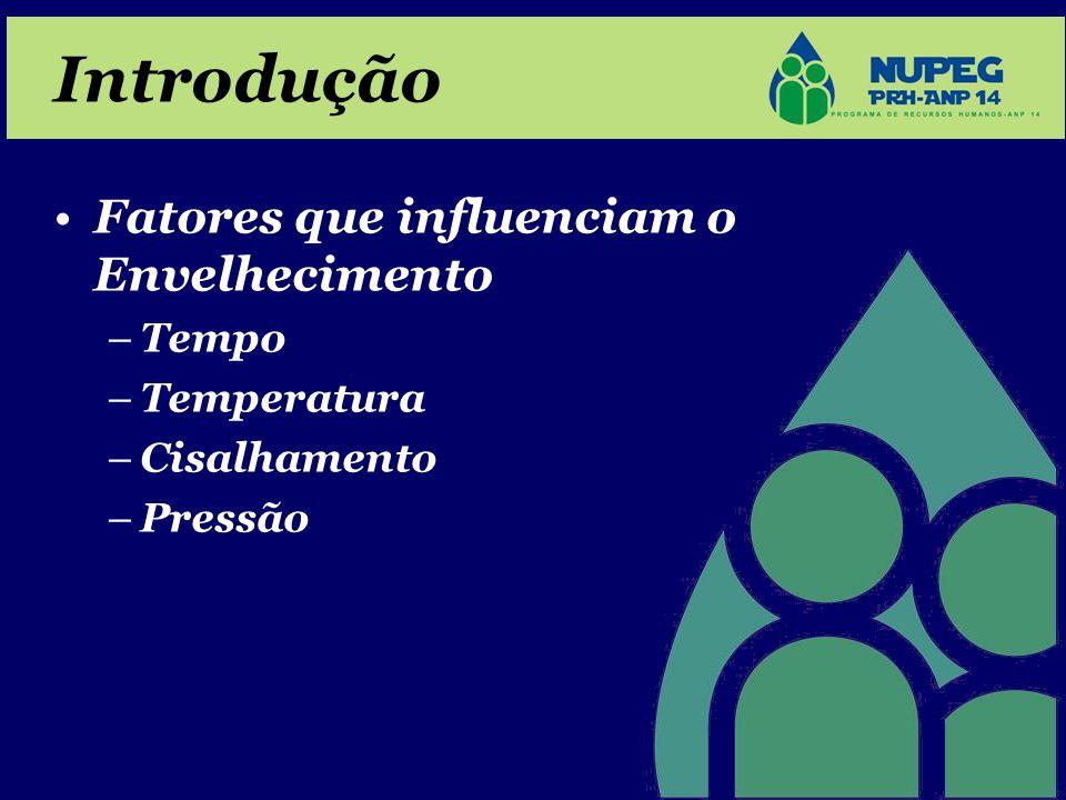 Introdução •Fatores que influenciam o Envelhecimento –Tempo –Temperatura –Cisalhamento –Pressão