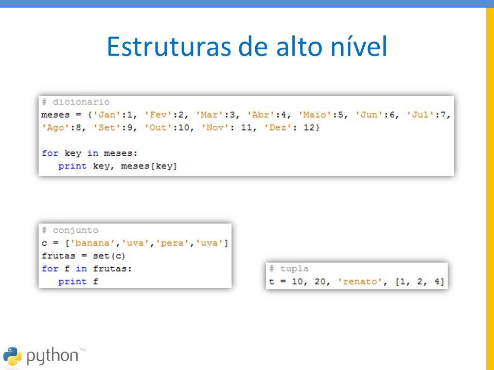 Documentação sites  http://www.python.org/doc/  Todos os docs em um único pacote • http://docs.python.org/ftp/python/doc/current/python-2.6.4-docs- pdf-letter.zip  Por onde começar.