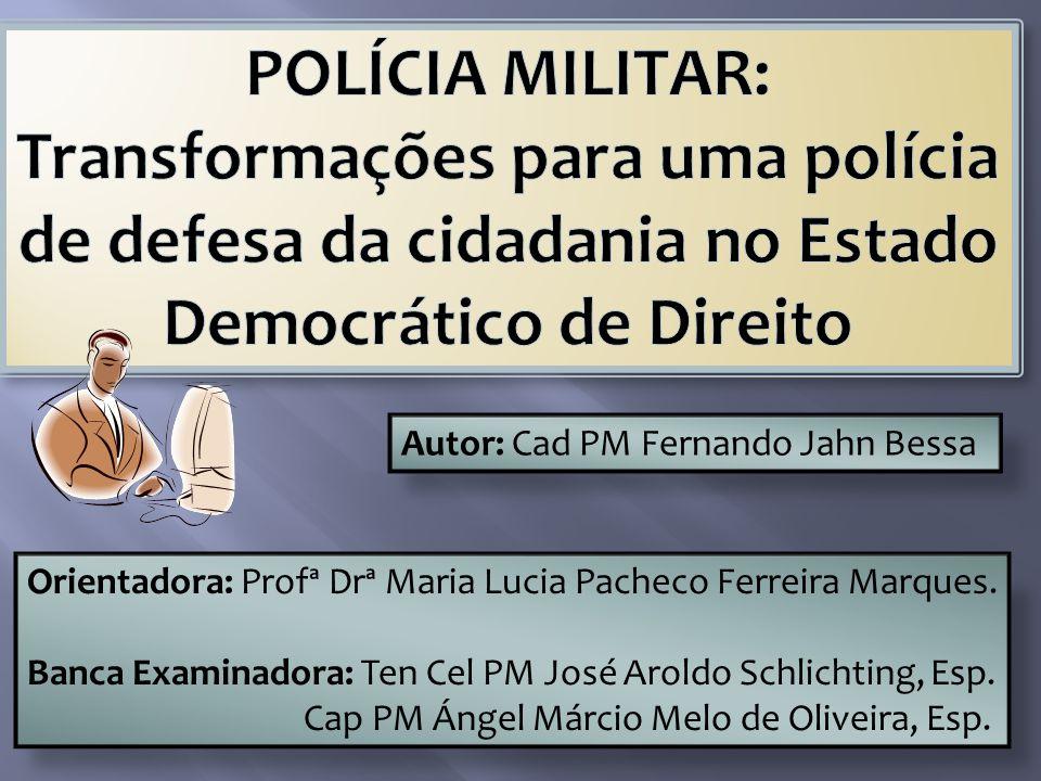 Orientadora: Profª Drª Maria Lucia Pacheco Ferreira Marques.