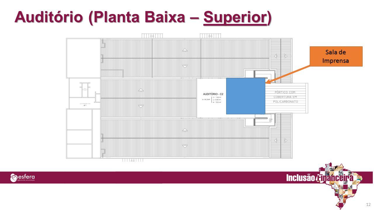 Auditório (Planta Baixa – Superior) Sala de Imprensa 12