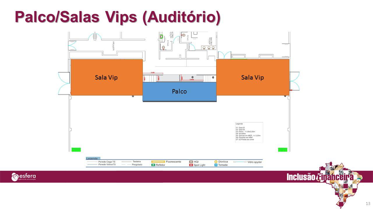 Palco/Salas Vips (Auditório) 13 Palco Sala Vip