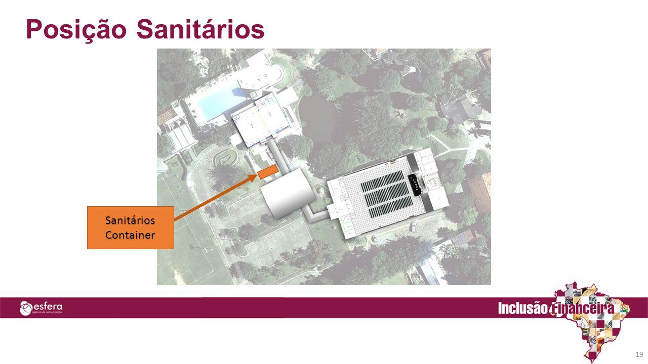 Posição Sanitários 19 Sanitários Container