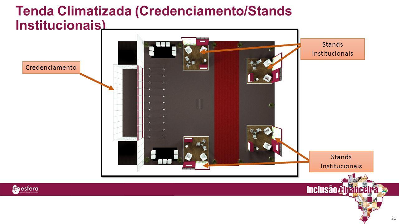 Tenda Climatizada (Credenciamento/Stands Institucionais) 21 Credenciamento Stands Institucionais