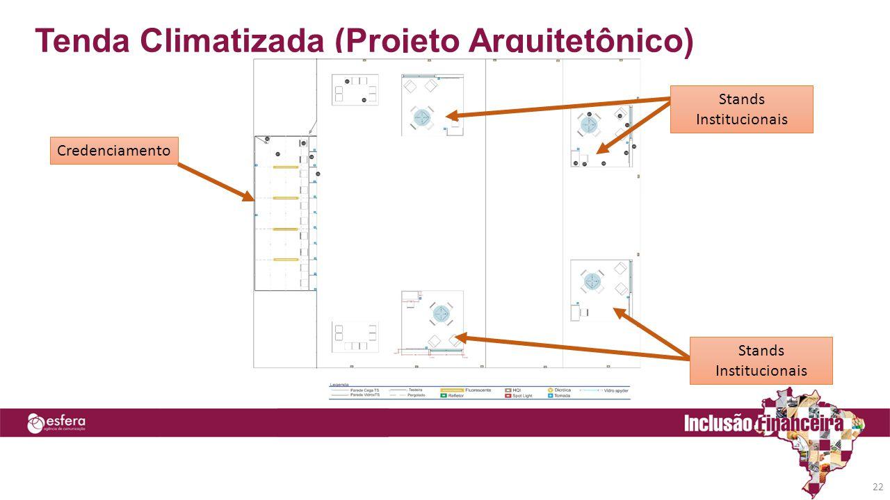 Tenda Climatizada (Projeto Arquitetônico) 22 Credenciamento Stands Institucionais