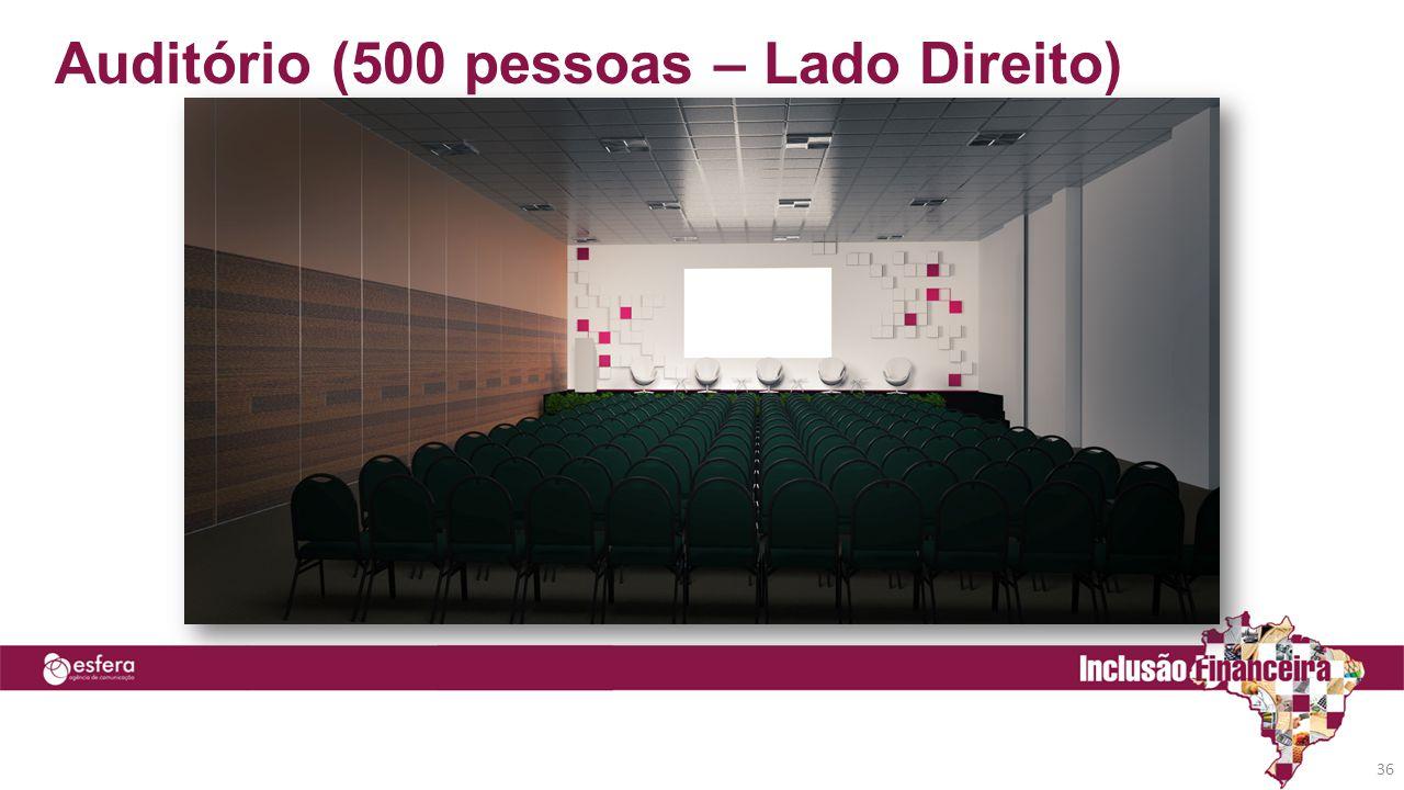 Auditório (500 pessoas – Lado Direito) 36
