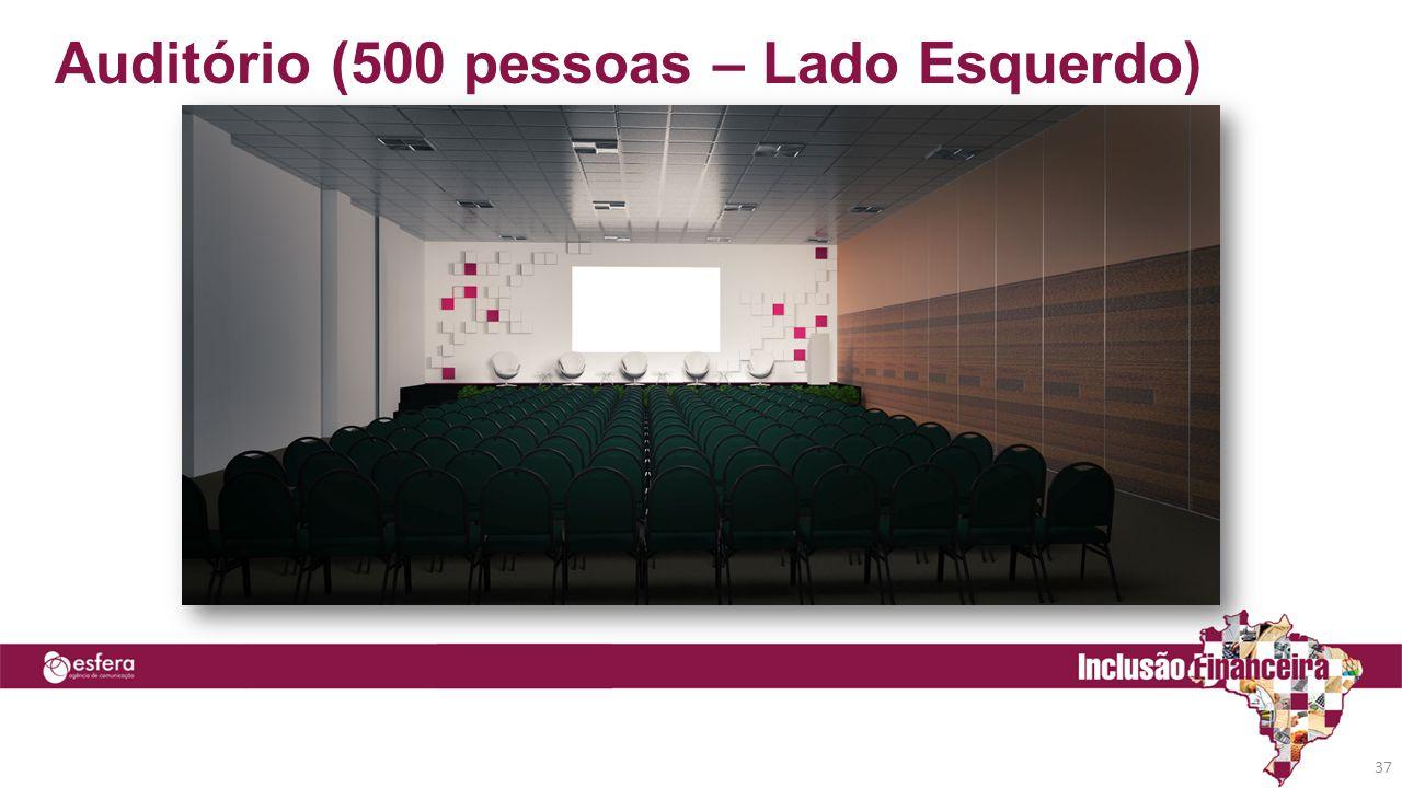 Auditório (500 pessoas – Lado Esquerdo) 37