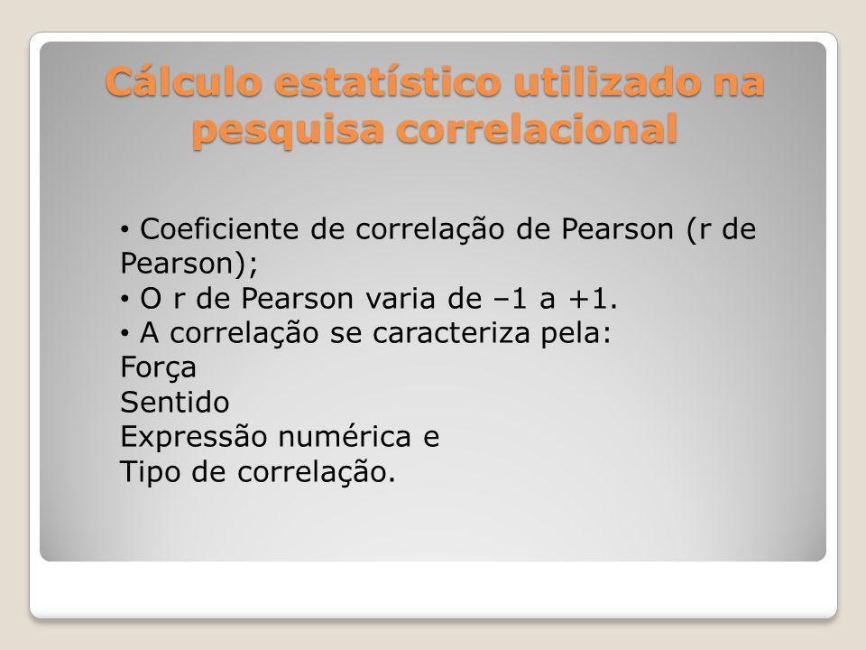 Força da correlação As correlações variam com respeito à força.