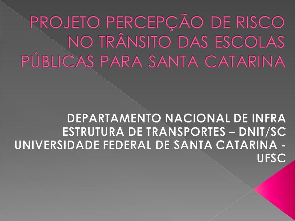 OBJETIVO GERAL: implementar um programa educacional dedicado ao tema Trânsito, Fotos de Atividades Realizadas pelas Escolas do Projeto Piloto em Santa Catarina