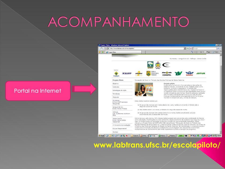 Portal na Internet www.labtrans.ufsc.br/escolapiloto/
