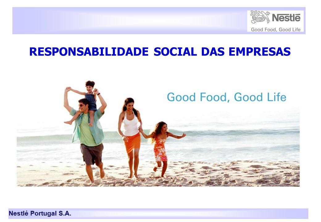 Nestlé Portugal S.A. 1 RESPONSABILIDADE SOCIAL DAS EMPRESAS