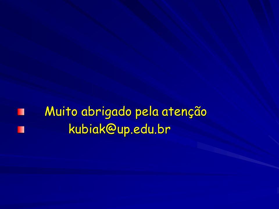 Muito abrigado pela atenção Muito abrigado pela atenção kubiak@up.edu.br kubiak@up.edu.br