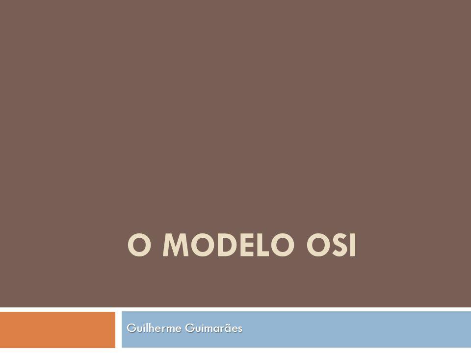 O MODELO OSI Guilherme Guimarães