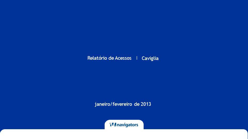 Relatório de Acessos Caviglia | janeiro/fevereiro de 2013