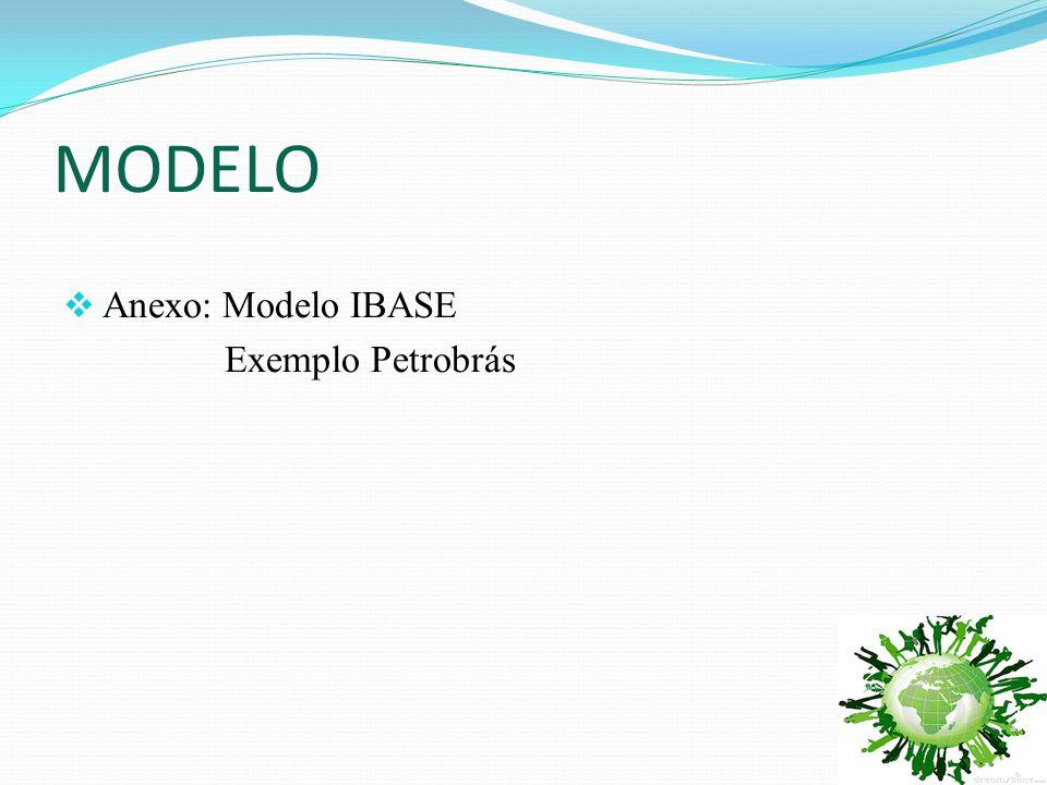 MODELO  Anexo: Modelo IBASE Exemplo Petrobrás