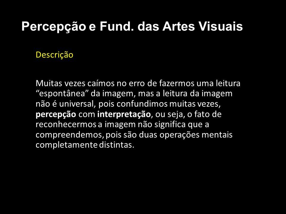 Representacional • A fotografia é o que mais se assemelha ao modelo natural representacional: Percepção e Fund.