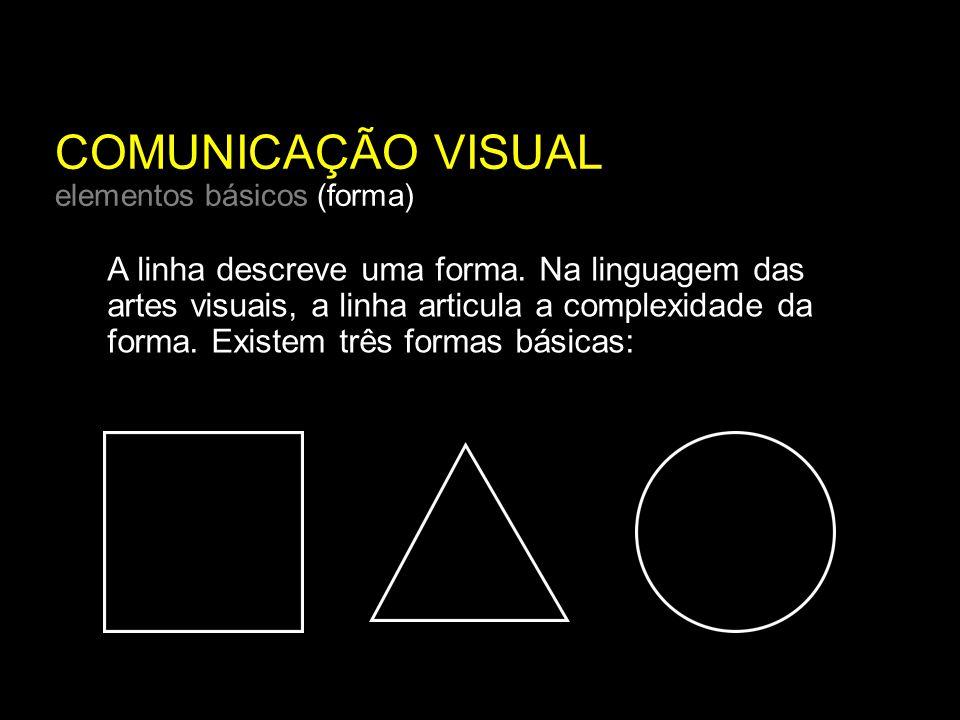 COMUNICAÇÃO VISUAL elementos básicos (forma) A linha descreve uma forma.