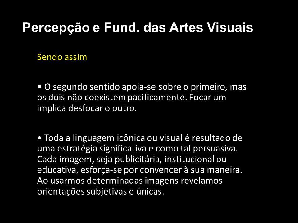 Anatomia da Mensagem Visual Expressamos e recebemos mensagens visuais em três níveis: • Representacional • Abstrato • Simbólico Percepção e Fund.