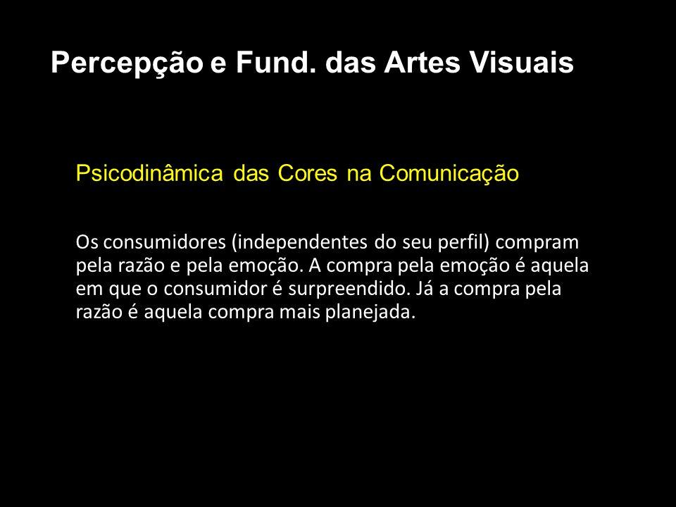 Psicodinâmica das Cores na Comunicação Os consumidores (independentes do seu perfil) compram pela razão e pela emoção.