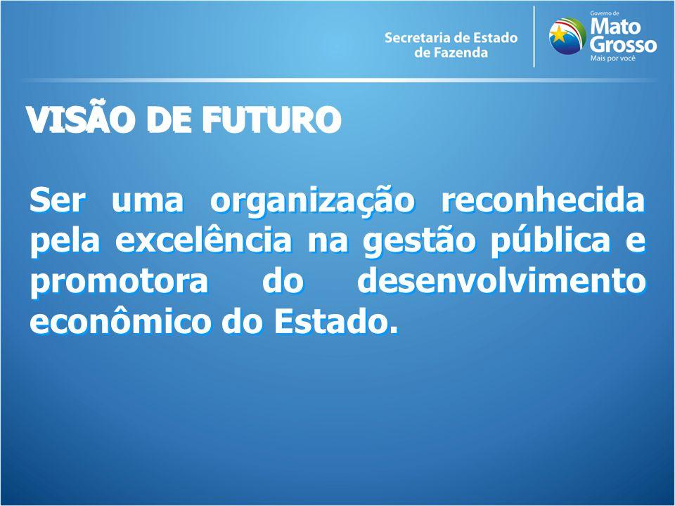 Ser uma organização reconhecida pela excelência na gestão pública e promotora do desenvolvimento econômico do Estado.