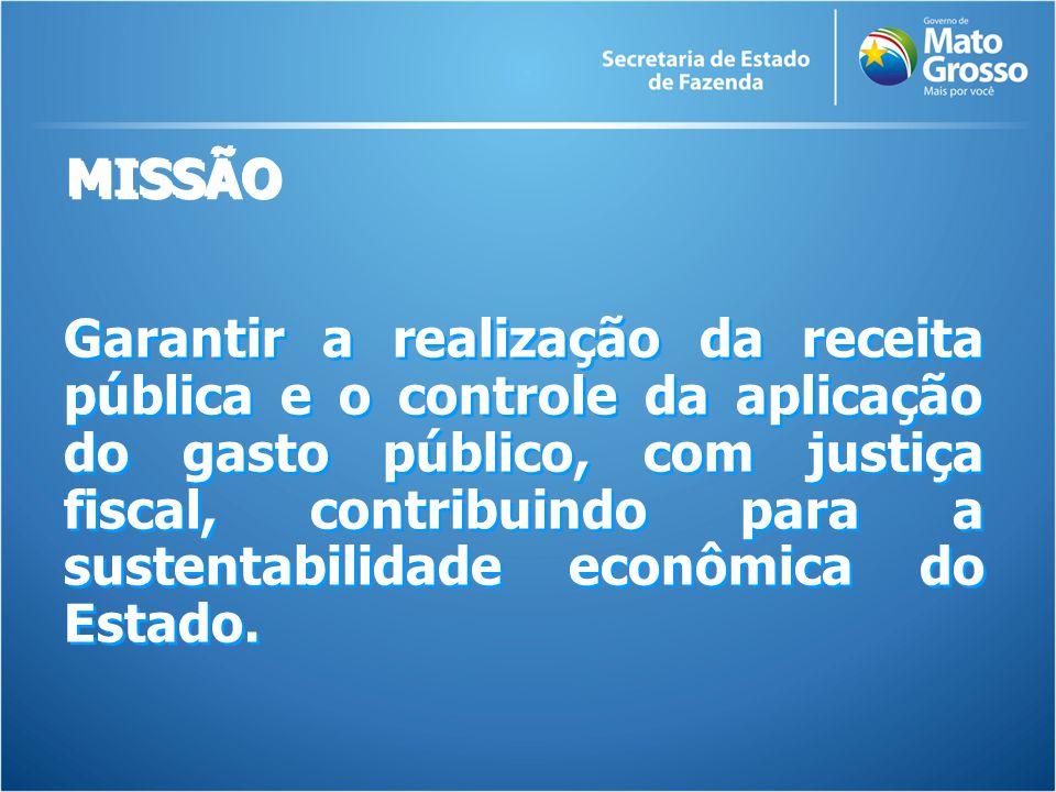 Garantir a realização da receita pública e o controle da aplicação do gasto público, com justiça fiscal, contribuindo para a sustentabilidade econômica do Estado.
