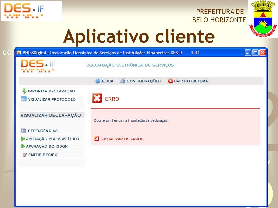 Declaração Eletrônica de Serviços de Instituição Financeira PREFEITURA DE BELO HORIZONTE Obrigada