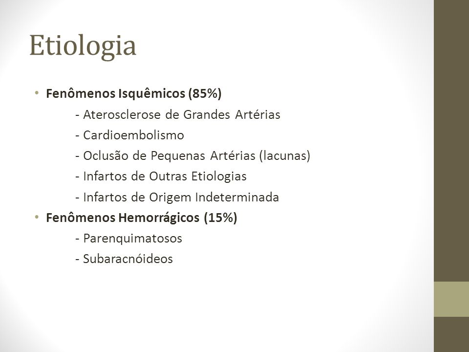SÍNDROMES HEMORRÁGICAS • AVE hemorrágico intraparenquimatoso • AVE hemorrágico subaracnóideo