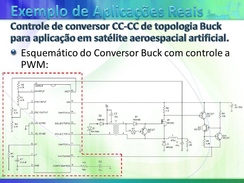 Esquemático do Conversor Buck com controle a PWM: