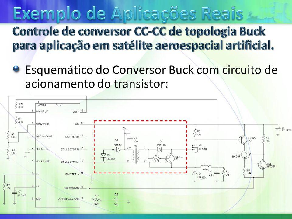 Esquemático do Conversor Buck com circuito de acionamento do transistor:
