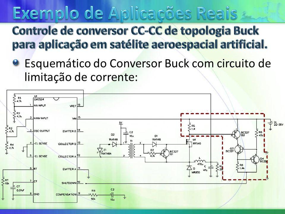 Esquemático do Conversor Buck com circuito de limitação de corrente: