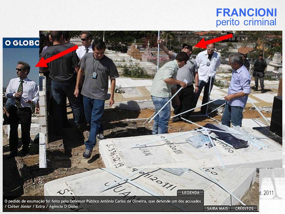 O Diretor do DGPTC foi acompanhado pelo mesmo perito escolhido na exumação do suposto cadáver de Juan Moraes.