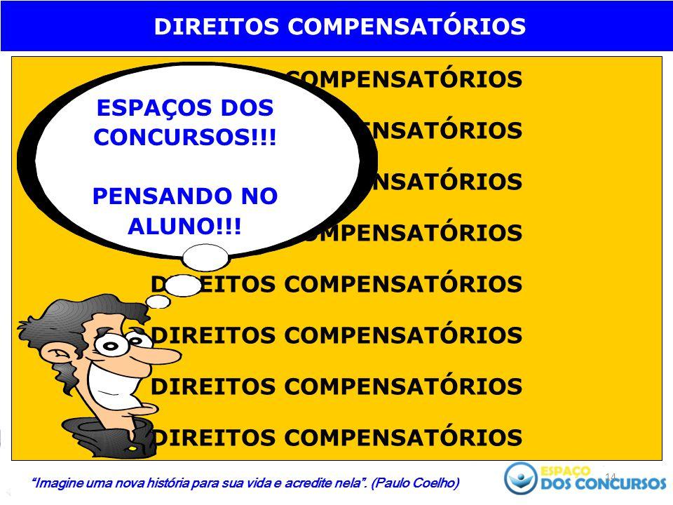 14 DIREITOS COMPENSATÓRIOS ESPAÇOS DOS CONCURSOS!!.