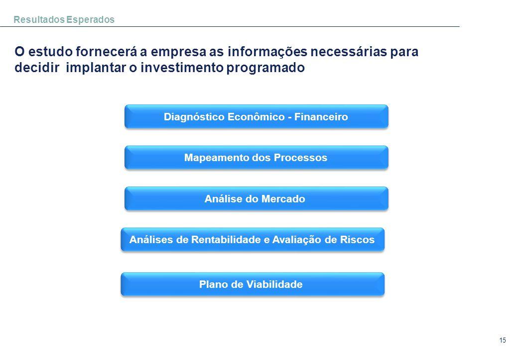 15 Resultados Esperados O estudo fornecerá a empresa as informações necessárias para decidir implantar o investimento programado Diagnóstico Econômico